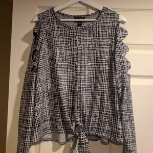 By & By Cold Shoulder Long Sleeve Shirt